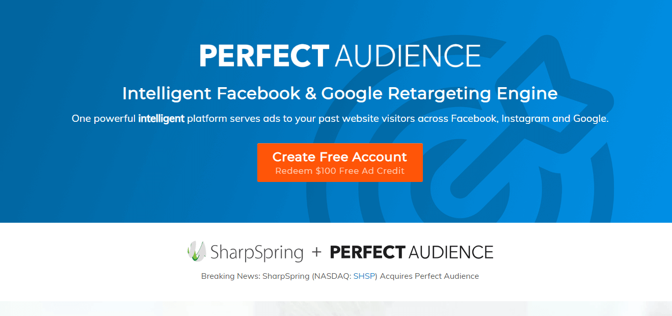 Perfect Audience : Social Media Marketing Tools for Advertising