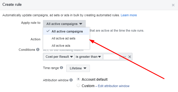 Facebook automated ad rules