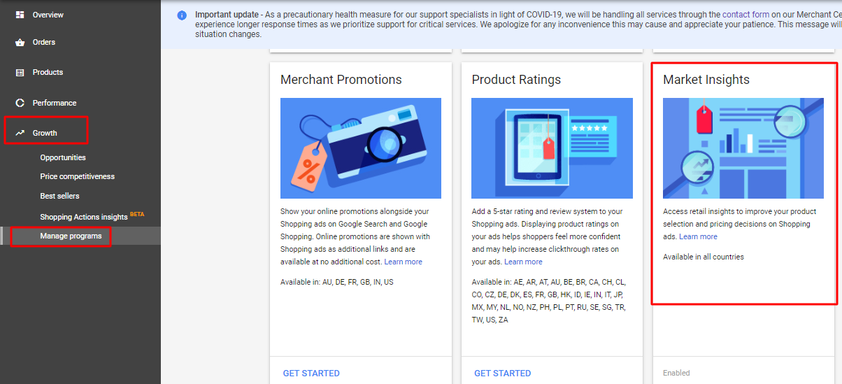 google merchant center insight