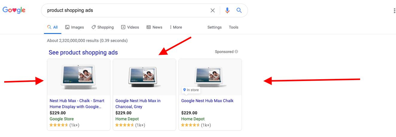 google shopping adgroups
