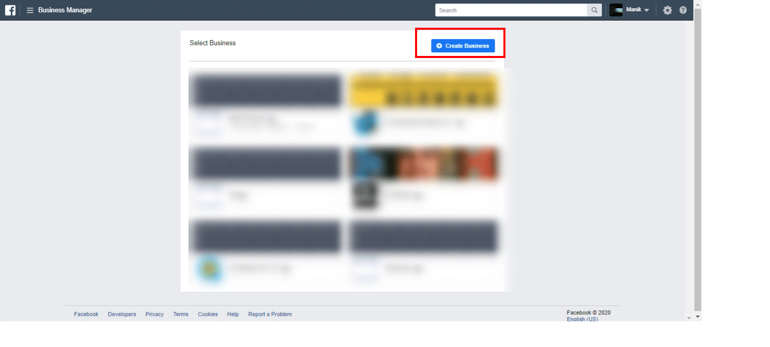 how to access fbbusiness manager