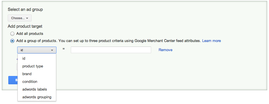 Google shopping ads product groups based on the themes and profits