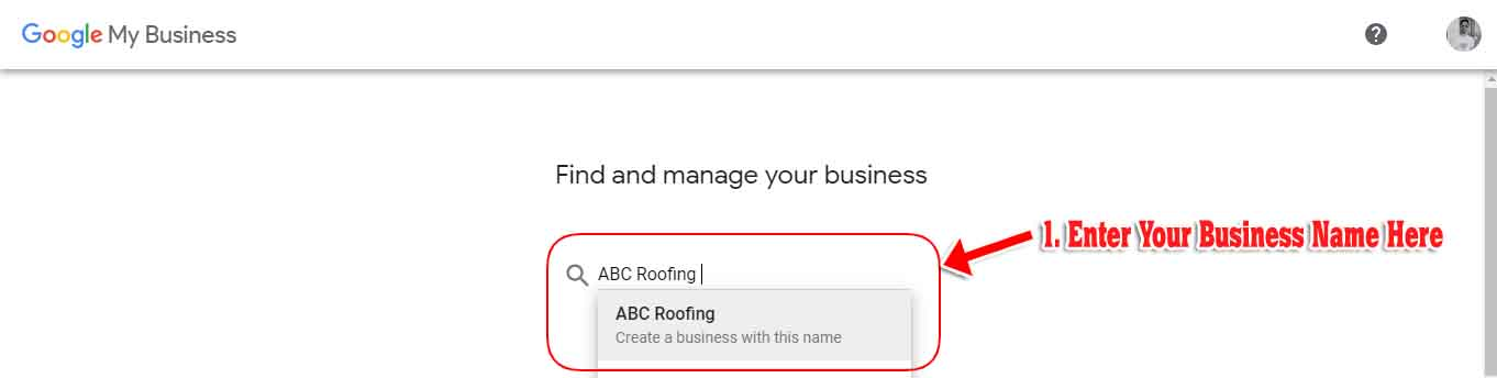 google my business roofing