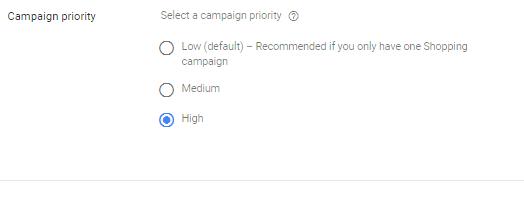 Google Ad Campaign Priority