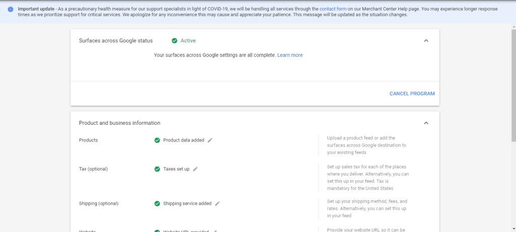 Surface across Google Programme