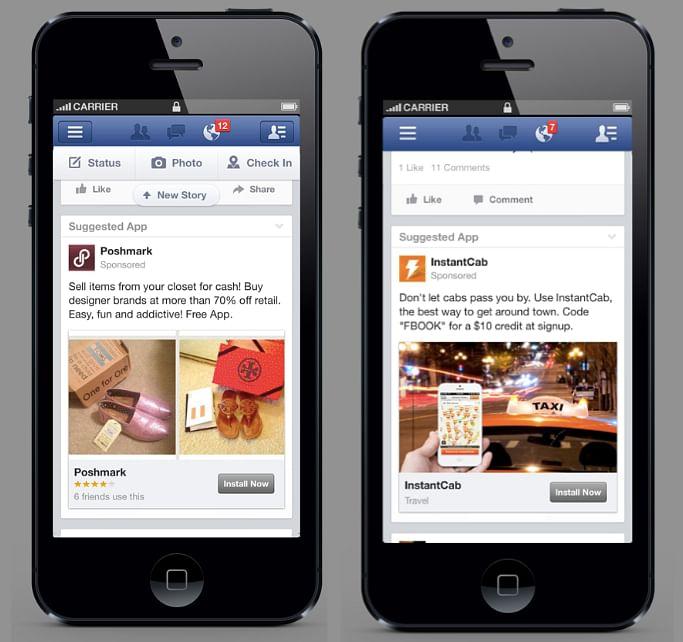 App install using Facebook ads