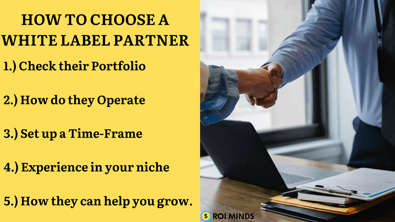 How to choose a white label partner