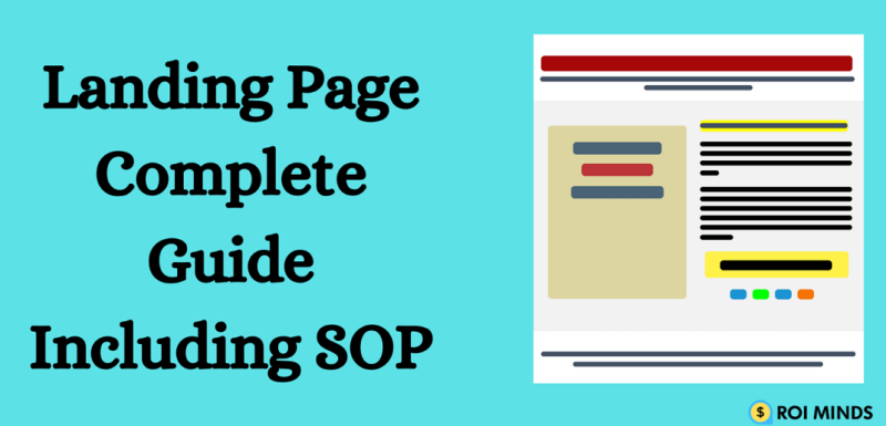 Landing Page complete guide including SOP -Roiminds